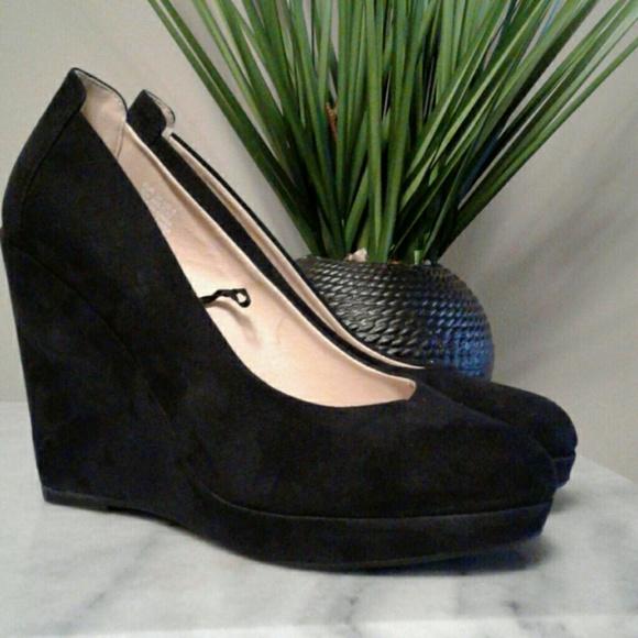 H\u0026M Shoes | Womens Black Faux Suade H M